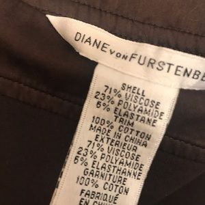 DVF Chocolate Brown Fit & Flair Dress Sz10